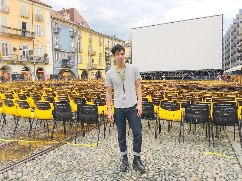 李永超對瑞士盧卡諾影展高達五層樓的超大銀幕嘆為觀止